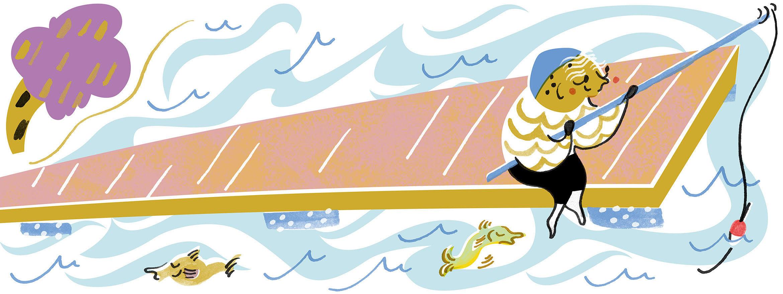 Swimming pier for Vattuniemi in Lauttasaari
