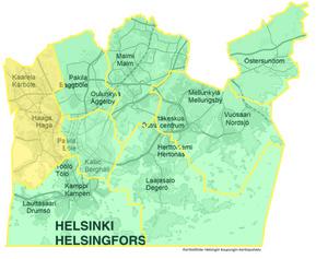 Länsi-Helsingin kartta