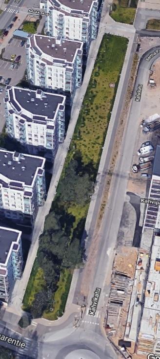 Aurinkolahden puistotien valmiiksi rakentaminen välillä Columbus - Leikosaarentie
