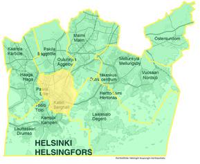 Keski-Helsingin kartta