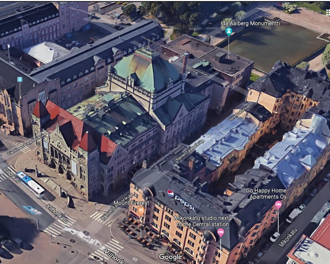 Portti Kaisaniemen puistoon: Itäinen Teatterikuja puistokaduksi