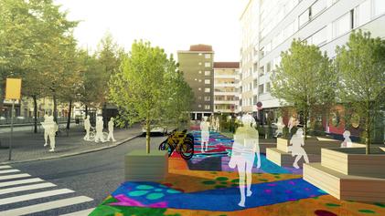 Turning Kuuskulma in Alppila into a comfortable city square