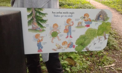 Nature experience trail for the oak forest in Annala