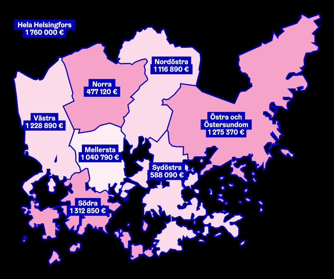 OmaStadi Distrikt karta 2020