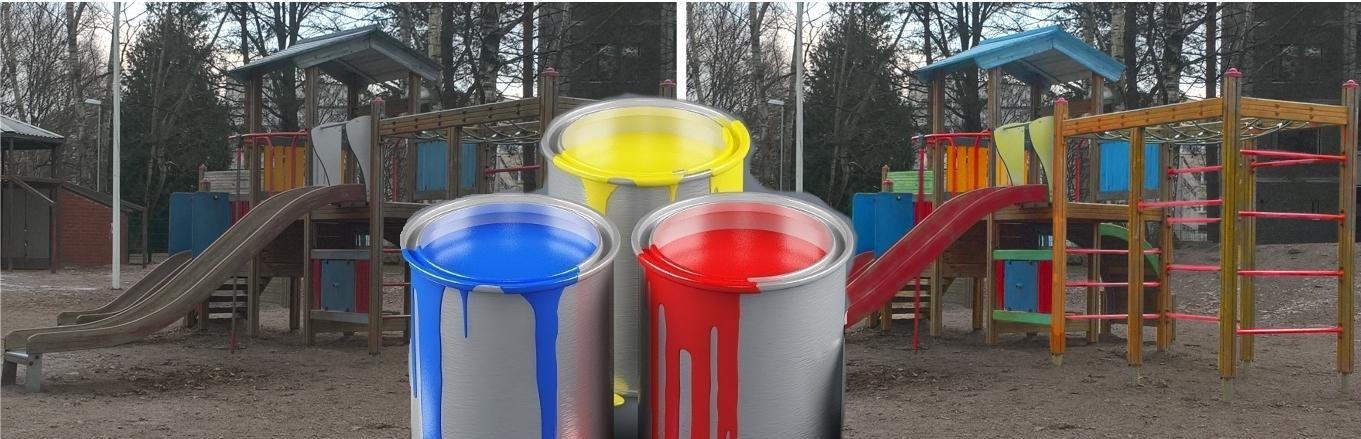 Maalauspartio julkisten tilojen, puisto-, leikki- ja liikuntavälineiden siistimiseen, paikkaamiseen ja maalaukseen