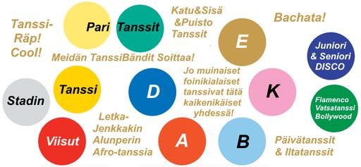 Seura(tanssi)-tapahtumia ja -tiloja eri puolille Helsinkiämme, vuoden ympäriinsä