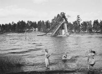 Lappeenrannassa 90-vuotias vesiliukumäki on edelleen käytössä