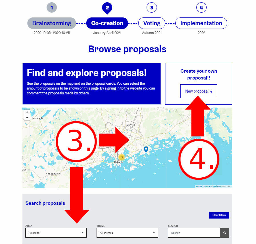 Explore the proposals and create a new proposal