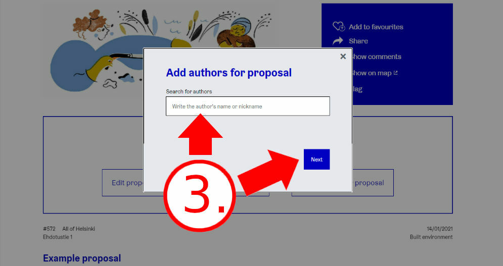 Add authors for your proposal
