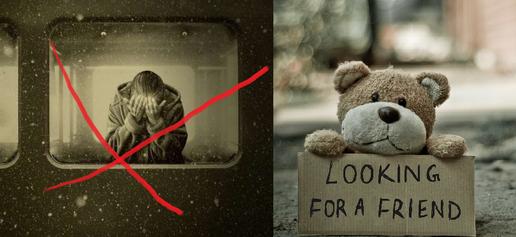 Don't accept loneliness/Älä hyväksy yksinäisyyttä