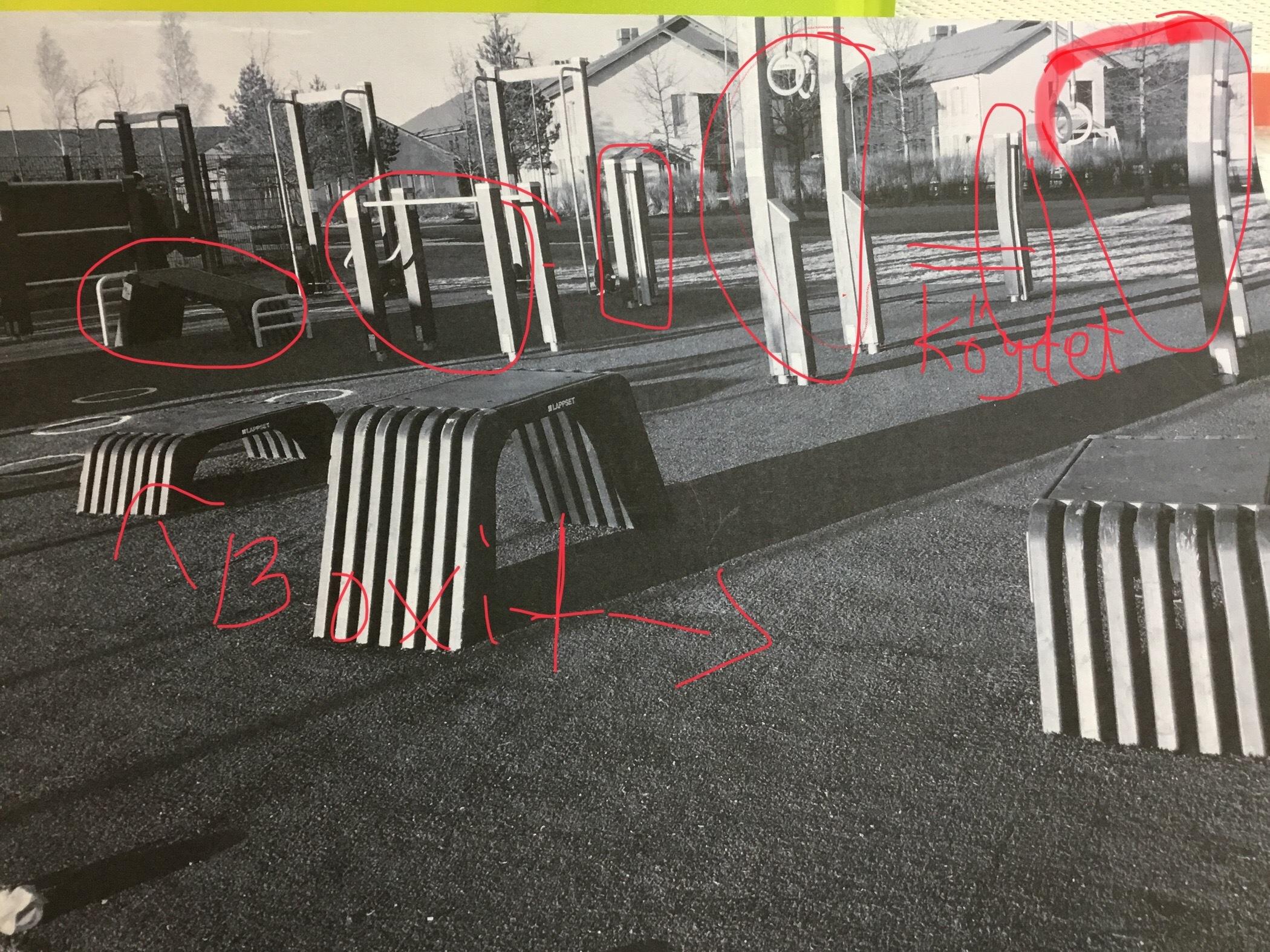 Ulkokuntoilupaikka Konalaan Riukuharjulle & Hilapellon puistoon - treeniä raikkaassa ulkoilmassa