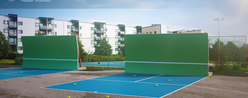 Arabianranta - Tennis practice walls