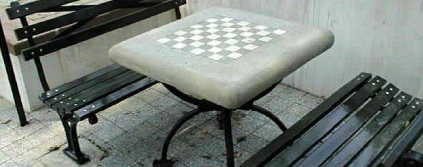 Shakkipöytä, tammipelipöytä