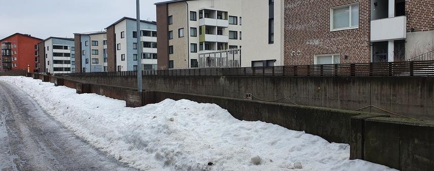Kevyen liikenteen väylä Eliel Saarisen tien varrella