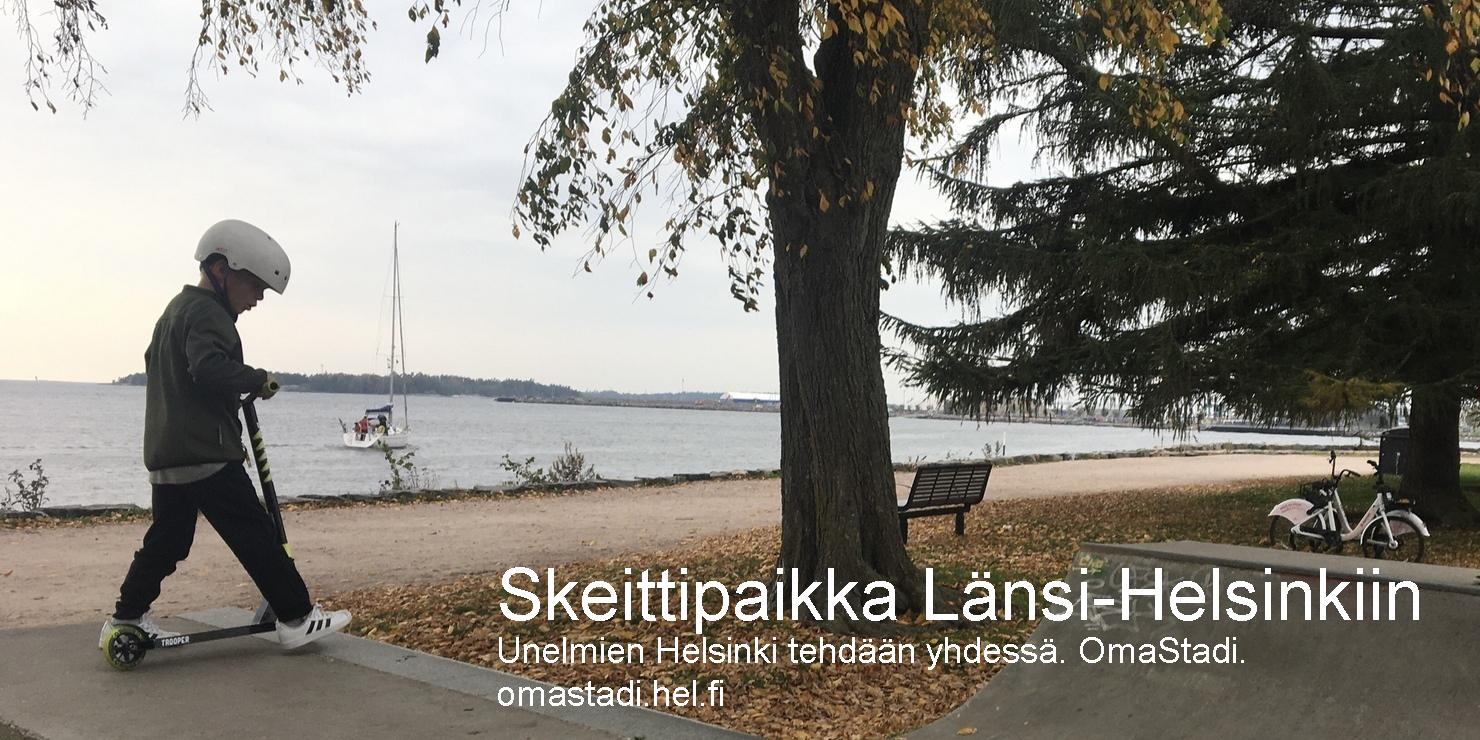 Skeittipaikka Länsi-Helsinkiin