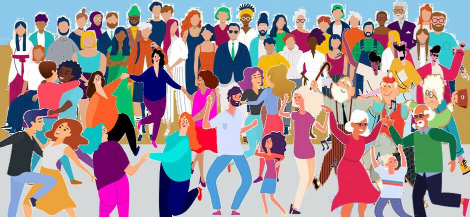 Tanssia ja Yhdessäoloa, Dans och Samhörighet, Dancing and Togetherness, танцы и единение, Qoob-ka-ciyaarka iyo Wadajirka,  الرقص وروح المجتمع