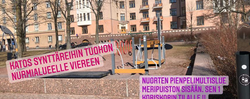 Leikkipaikka Meripuistoin viereinen unohdettu puistoalue uusiksi