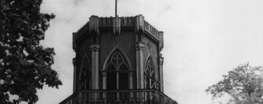 Näkötorni Sompasaaressa 1950-luvulla. Kuvaaja: Eino Heinonen