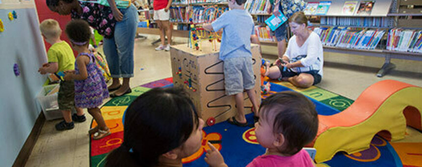 Kids area in libraries (https://www.library.ca.gov/services/to-libraries/elf/stayandplay/)