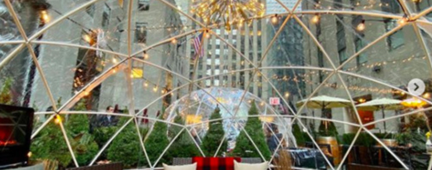Pop-up igloo (https://www.averagesocialite.com/nyc-events/2020/11/8/city-winerys-winter-igloos-nyc)