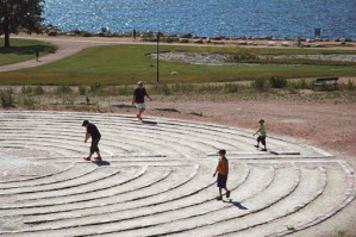 Kotkan Katariinan meripuistossa labyrintti