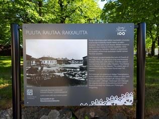 Sikalanmäen infotaululle malli Raumalta