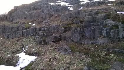 Rinnettä kallioineen