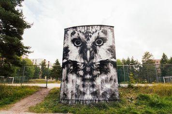 Jussi TwoSevenin installaatiomainen The Owl löytyy Turusta, Varissuolta.