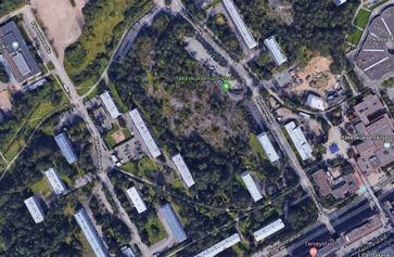 Kiipeilypuiston paikka Itäkeskus