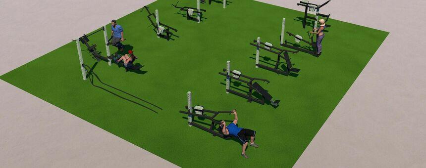 Building outdoor gyms in Kallio