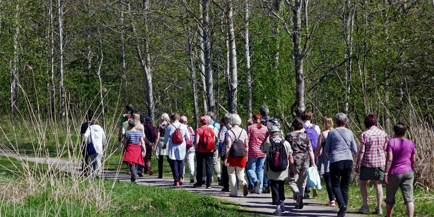 Luontokävelyllä Pitäjänmäen Talissa