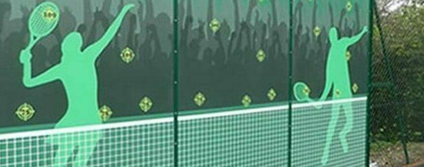 Tennis practice walls