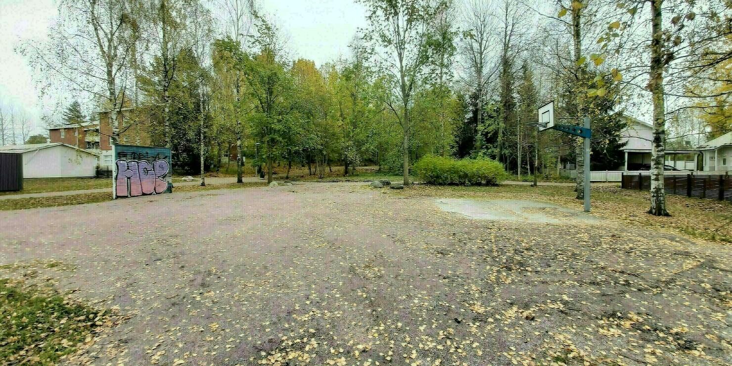 Kuvassa Kimalaispuisto tällä hetkellä.