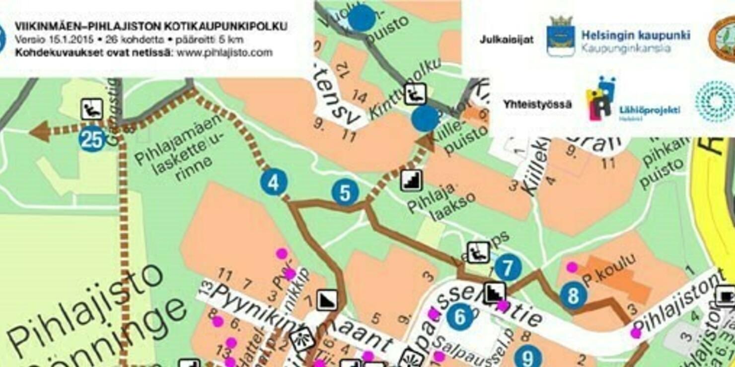 Valentin Konosen polku on osa Pihlajisto-Viikinmäen kotikaupunkipolkua