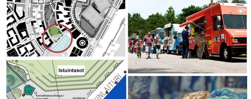 Street Food fasiliteetit Jätkäsaareen / Melkinlaiturille