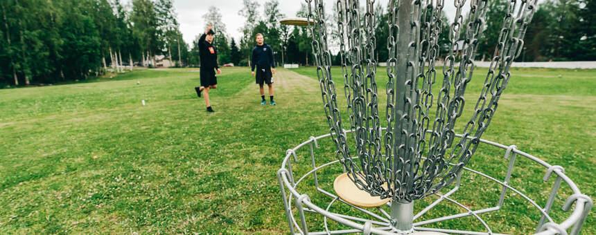 Haagan puiston frisbeegolf-radan uudistaminen