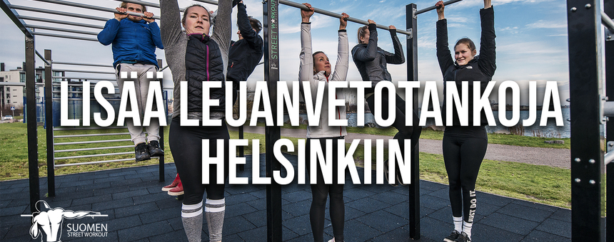 Lisää leuanvetotankoja Helsinkiin